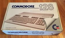 Commodore 128 with power cord in original box! Vintage Rare 1986 Powers On!