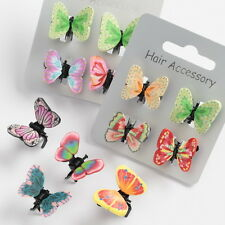 Ladies Girls Butterfly Mini Hair Clips Clamps Brand New