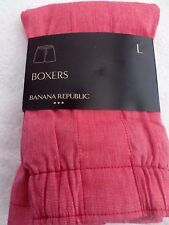 MENS SIZE LARGE 36-38 BANANA REPUBLIC COTTON BOXER NWT