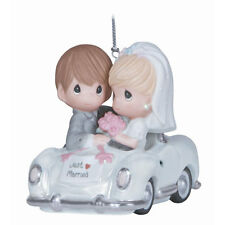 Precious Moments Just Married-Couple In Car Orn 131008 NIB