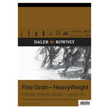 A4 DALER ROWNEY FINE GRAIN HEAVYWEIGHT CARTRIDGE PAD 200gsm ARTIST SKETCH PAPER