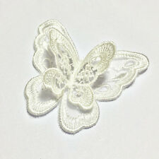 10pcs Embroidery Butterfly Sew On Patch Badge Wedding Bridal Dress Applique