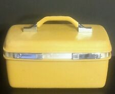 Vintage Samsonite Royal Traveller Vanity Makeup Train Case Golden Yellow Luggage