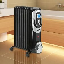 Oil-Filled Radiator 2000 W Watts Electric Heater 9 Rows of Ribs Bath Room
