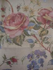 250cm Sanderson Rosetta Vintage Shabby Chic Lino remanente de Tela de tapicería