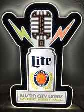 Austin City Limits ACL 2014 Poster MILLER LITE BEER Neon LED Light MOTION Sign