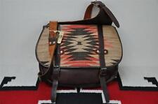 Ralph Lauren RRL Leather & Indian Wool Blanket Messenger Bag