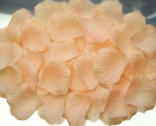 250 pcs Lt. Peach Rose Petals Wedding Bridal Brides Flower Girl Faux Silk