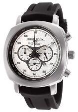 Jorg Gray JG3505 Men's Chronograph Silver Dial Black Rubber Strap Watch