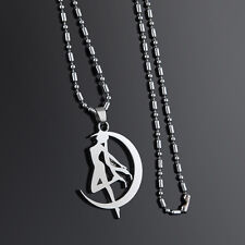 Sailor Moon necklace silver Charm Pendant Anime Fan Gift cosplay