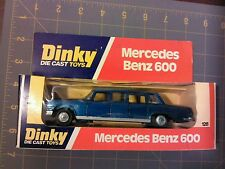Dinky Mercedes Benz 600 blue limousine die cast car, meccano, box 1976