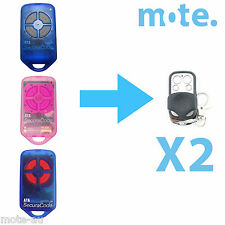 2 x ATA PTX4 Compatible Garage/Gate Door Remote GDO 2v5/2v6/2v7/4v3/4v4/4v5/4v6