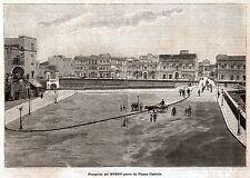 Taranto: il Borgo Antico preso da Piazza Castello. Grande Veduta. Salento. 1899