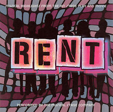RENT - MUSICAL HIGHLIGHTS FROM HIT STAGE PLAY & MOVIE -MUSICAL STAGE COMPANY!!;