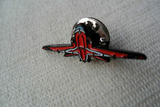 A great red arrows red aeroplane front view pin lapel badge,free u.k.p&p