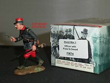 KING AND COUNTRY FW74 FRENCH OFFICER WITH PISTOL SWORD METAL TOY SOLDIER FIGURE