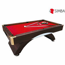 7 Ft Pool Table Billiard Red Cloth billiards table Indoor Sports Napoleone