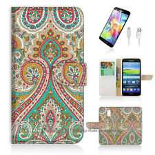 Samsung Galaxy S5 Flip Phone Case Cover PB10023 India Damask