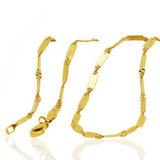 18 k Gold Plated Decorative Chain Lady Necklace for Women Chain 2 mm width N419