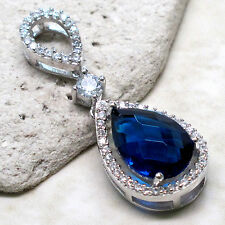 REMARKABLE 4 CT SAPPHIRE 925 STERLING SILVER PENDANT
