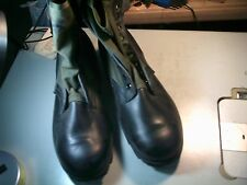 US Military Issue Vietnam Era Canvas Leather Jungle Boots New Old Stock 13.5 XW