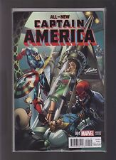MARVEL ALL NEW CAPTAIN AMERICA #1 STAN LEE CAMPBELL COLOR CONVENTION VARIANT