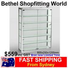 Wall Mounting Glass Display Cabinet For Jewellery Model Car Hobbies Brand New