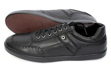 BRIONI Black Leather Shearling Fur Lined Fashion Sneakers Shoes 8 UK 9 US NIB!
