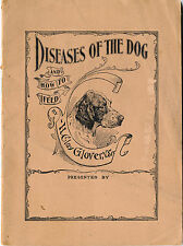 "1897 ""Diseases of the Dog"", Glover's Mange Cure Advertising Booklet, Horses"