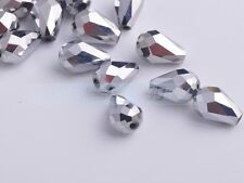 Teardrop Faceted Crystal Glass Charms Loose Spacer Beads 3mm 5mm 8mm 10mm 12mm