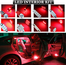Newest LED Car Interior Light Bulbs Package Kit For Ford Mondeo III MK3 -- Red