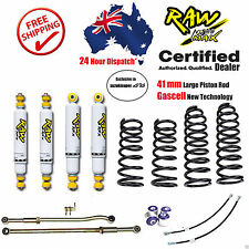 "80 100 Ser Landcruiser 100mm 4"" Suspension Lift Kit with Raw 4x4 Shock Toyota HD"