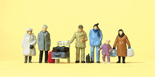 HO Preiser 14038 * Christmas* Travellers / People in Winter Clothes (6) FIGURES