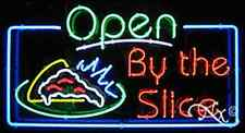 """NEW """"OPEN BY THE SLICE"""" 37x20 REAL PIZZA NEON SIGN W/CUSTOM OPTIONS 15570"""