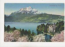 Hertenstein Mit Pilatus Switzerland Vintage Postcard 364b