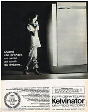 PUBLICITE ADVERTISING 0105  1964  les réfrigérateurs KELVINATOR