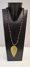Necklace Vintage African Brass Spear Pendant Turkana Tree Seeds Reed Grass Brass