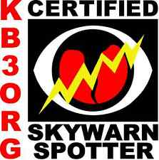 """Personalized Amateur Ham Radio 6"""" x 6"""" Vehicle Magnet SkyWarn Storm Chaser"""