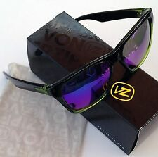 Von Zipper Booker Sunglasses-MINDGLO Ltd Ed.- Black Lime Frame/Quasar Glo Lens