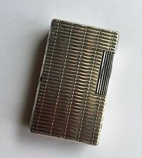 Vintage S.T. DUPONT PARIS SILVER Plated Lighter Briquet Feuerzeug 1385DS DUPONT