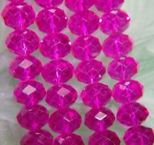 6X8mm Rose Red faceted Crystal Bead 72pcs