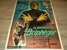 LA MALEDICTION DE BELPHEGOR  !  affiche cinema epouvante 1967