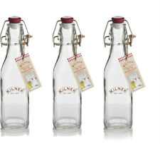 Set of 3 Kilner 250ml Glass Bottles - Oil Clip Top Preserving 3 x 0.25L Bottle