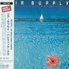 Air Supply THE WHOLE THING'S STARTED cd 1977 JAPAN**OFFICIAL**Russell Hitchcock