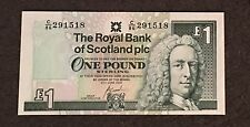 Brilliant Uncirculated RBS Scottish One Pound Note - £1 Bank Note