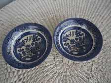 2 churchill england blue willow pattern cereal bowls 8 sets of 2 available
