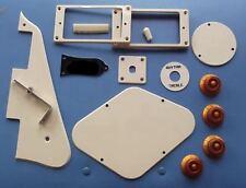 Pickguard Bracket Ring Back Cover Plate Knobs Kit (14pcs set) Cream Fit L.P Guit