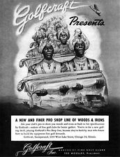 Golfcraft Golf Clubs Presented by Blackamoors WOODS Irons PRO SHOP LINE 1947 Ad