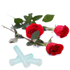25Pcs Floral Water Tube Fresh Flower Rose Pick Wedding Party Gift With Cap 2.8''