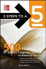 5 Steps To A 5 500 Ap - English Language Q To Know By (2011) - Used - Trade